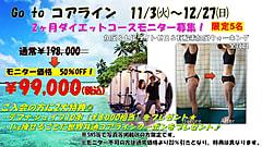 【 GoTo コアライン田無 ダイエットモニターキャンペーン 半額です☆ 12月~ 限定月5名】残り1名様!
