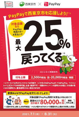 西東京市でキャッシュレス❢最大25%戻ってくる~コアラインでのお支払いも対象です☆